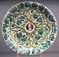 Casteldurante (attr.), piatto con medaglione di vitellio e tralci di quercia (della rovere), 1525-30 ca..JPG