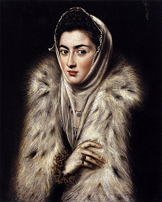 Infanta Catherine Michelle of Spain -  A Lady in a Fur Wrap - Duchess Catherine Michelle of Savoy