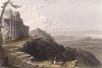 Catskill Mountain House - View from The Mountain House (1836), by William Henry Bartlett