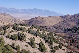 Skull Valley Indian Reservation - A view of Skull Valley from the nearby Cedar Mountain Wilderness.
