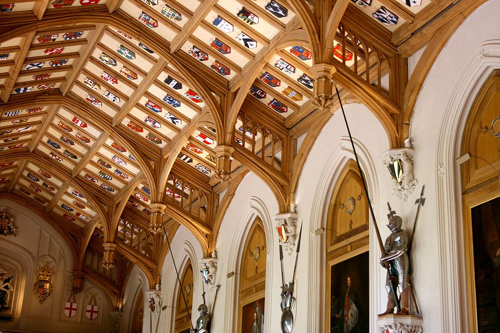 File Ceiling Of St George S Hall Windsor Castle Jpg