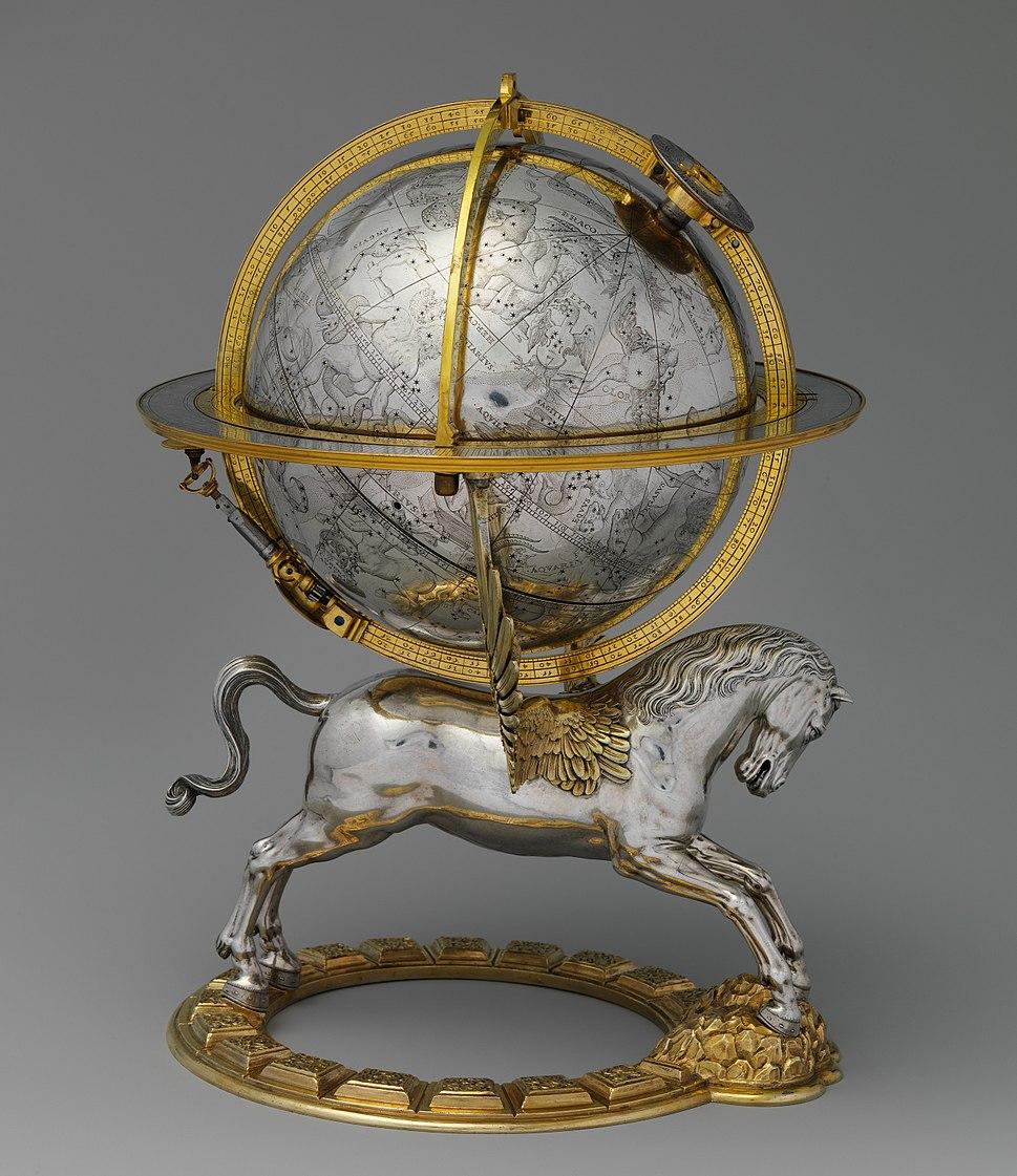 Celestial globe with clockwork MET DP237684