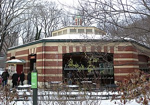 Central Park Carousel - Central Park Carousel in the winter