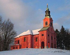 Visitation of Mary Church (Ljubljana) - Image: Cerkev Marijino Obiskanje Ljubljana Roznik