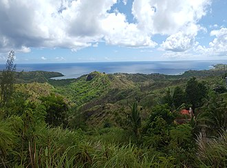 Cetti Bay - The bay as seen from the hills above