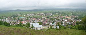 Chęciny - Panorama of town