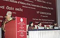 Chandresh Kumari Katoch addressing at the 10th Convocation of National Museum Institute, in New Delhi. The Minister of State for Human Resource Development, Dr. Shashi Tharoor and the Secretary Culture.jpg