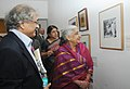 Chandresh Kumari Katoch going round after inaugurating an exhibition 'Visual Archives of Kulwant Roy, in New Delhi on November 14, 2012. The Secretary, Ministry of Culture, Smt. Sangita Gairola is also seen.jpg