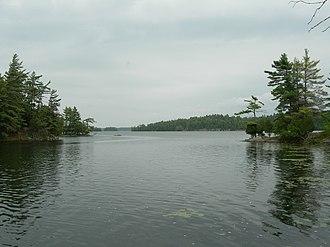 Charleston Lake Provincial Park - Charleston Lake from Slim Bay bridge