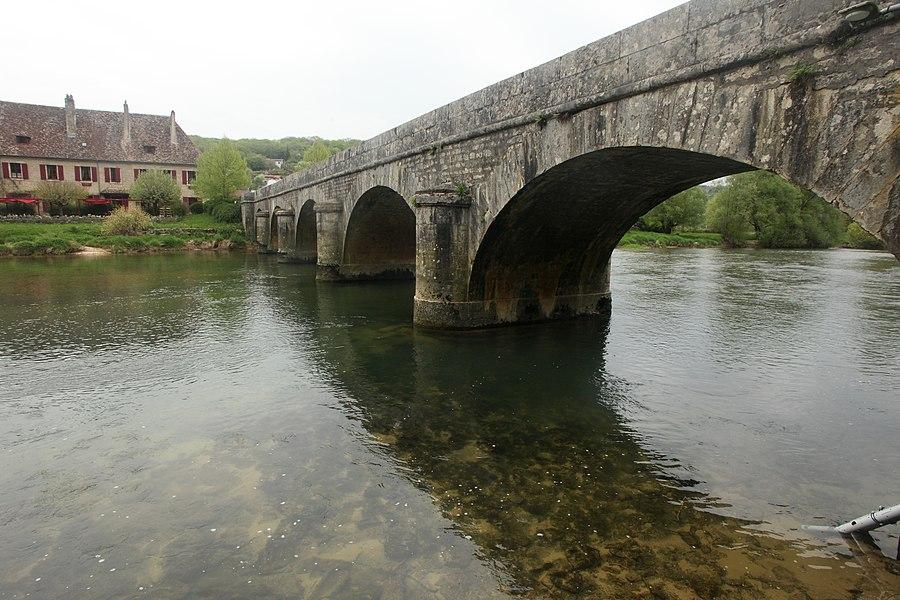 Pont sur la Loue à Chenecey-Buillon (Doubs).