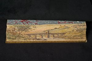 Fore-edge painting - Image: Childe Harold's Pilreimage Fore Edge Painting