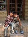 Children in Ribat-i-Abbasi of Nishapur (Hossein - Ali - Fatemeh - Hengameh and another girl - probably Afghani) 24.jpg