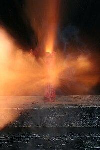Exploding firecracker