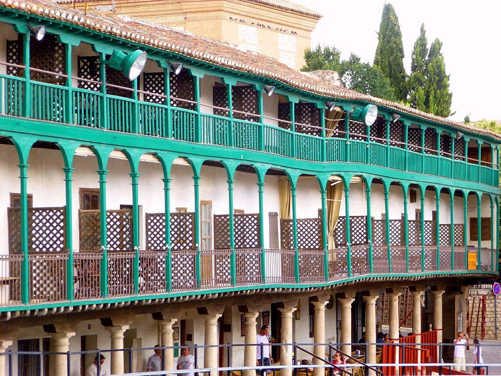 Balconada de la plaza mayor de Chinchón