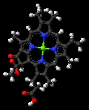 Chlorophyll c - Image: Chlorophyll c 1 3D balls