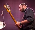 Chris Pravdica with Swans in Boston, MA, May 2014.jpg