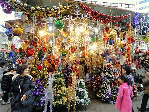 Christmas ornaments in Seoul, South Korea