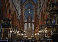 Church of Our Lady Assumed into Heaven (St. Mary's Church), interior-main nave, 5 Mariacki square, Old Town, Krakow, Poland.jpg