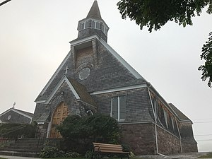 Church of Saint Lawrence - Image: Church of St Lawrence in Alexandria Bay, New York. West side