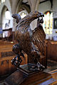 Church of St Mary Hatfield Broad Oak Essex England - John the Evangelist eagle sculpture.jpg