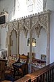 Church of St Mary the Virgin, Woodnesborough, Kent - Sedilia 14th-century.jpg