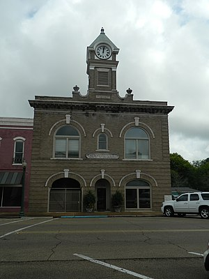 West Point City Hall at West Point Central City Historic District.