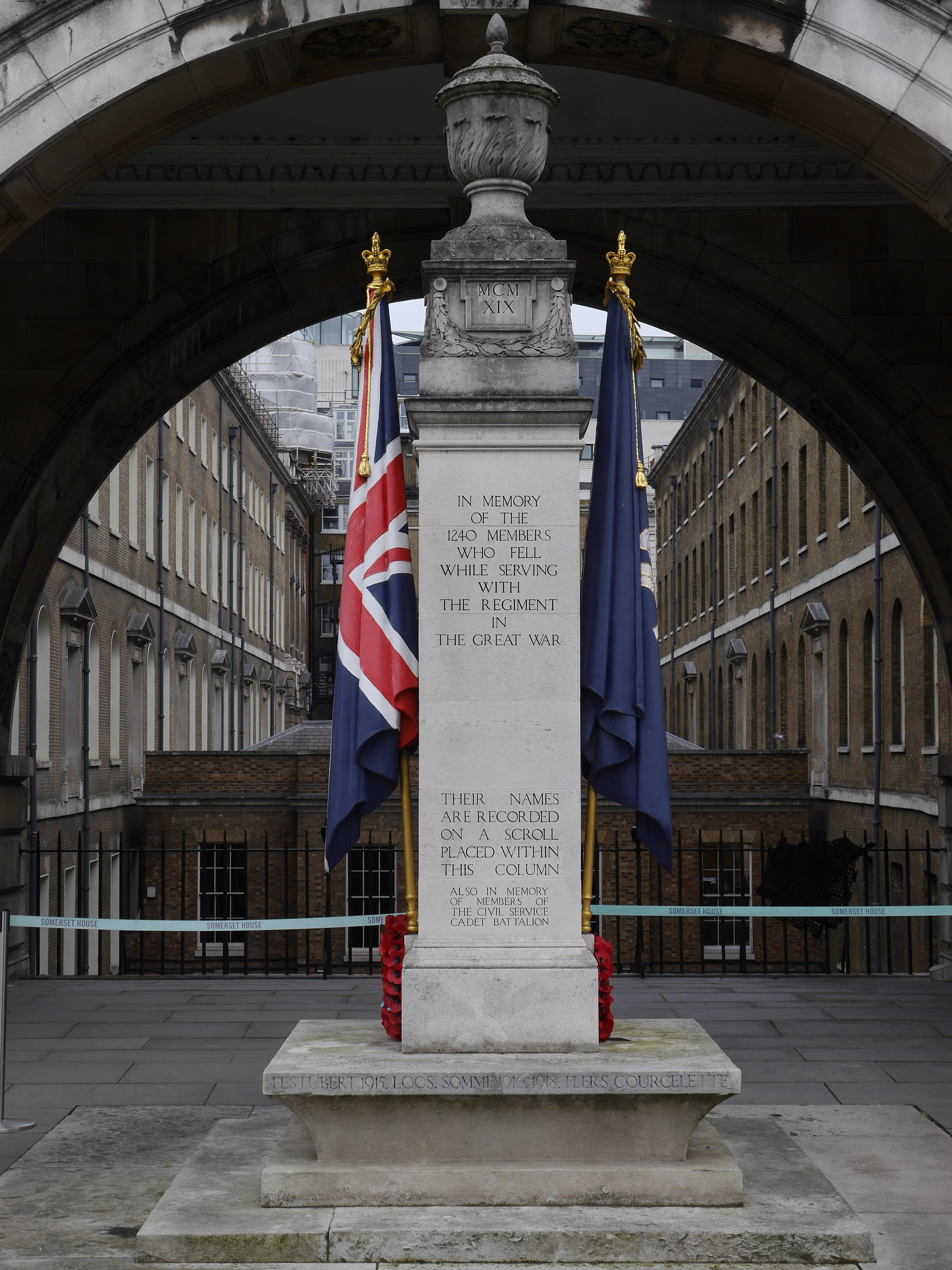 File:Civil Service Rifles memorial - view from south 02.jpg