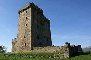 Scottish castles - Clackmannan Tower, a tower house, originally built in the fourteenth century