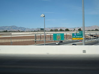 Las Vegas Beltway - Southern beginning of CC 215, as viewed from the I-15 southbound overpass