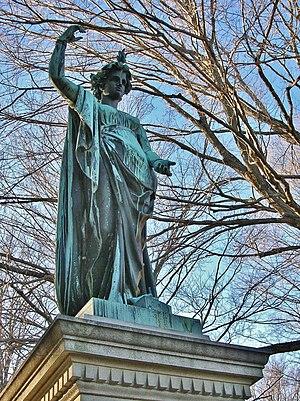 Truman Howe Bartlett - Clark Family Monument (designed by Truman H. Bartlett in 1868; sculpted by Ferdinand von Miller in 1869)