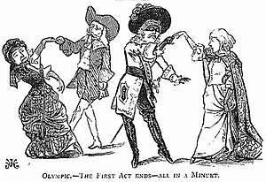 Claude Duval (opera) - The minuet at the end of the first act: drawing from Fun magazine, 1881