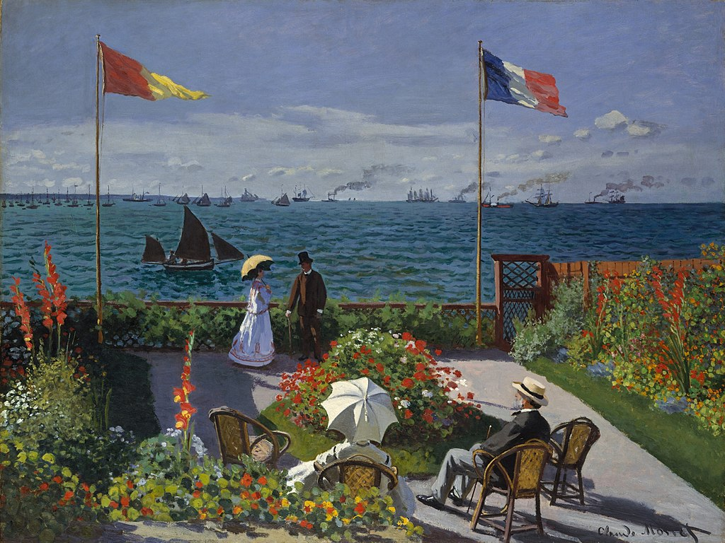 """Garden at Sainte-Adresse"" by Claude Monet"