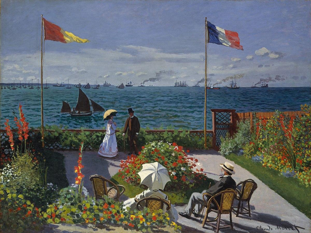 File:Claude Monet - Jardin à Sainte-Adresse.jpg - Wikipedia