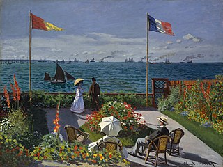 <i>Garden at Sainte-Adresse</i> painting by Claude Monet, 1867