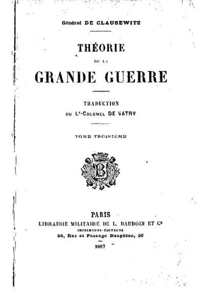 File:Clausewitz - Théorie de la grande guerre, III.djvu
