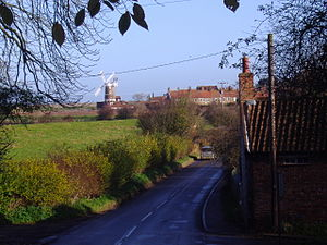 A149 road - Cley Windmill from the A149