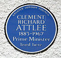 Clement Attlee blue plaque, Woodfood Green.jpg