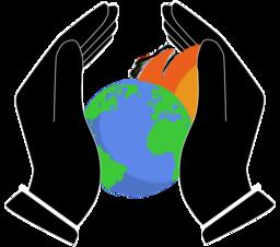 Climate change mitigation icon
