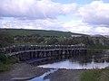 Cloonlaur, the clapper bridge and ford - geograph.org.uk - 1842798.jpg