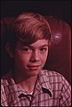 Closeup of Michael Gipson, 14, Son of Mr. and Mrs. Wayne Gipson Who Live near Gruetli, Tennessee, near Chattanooga 12-1974 (3906470931).jpg