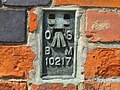 Closeup of the OS Bench Mark on Dirtness Pumping Station - geograph.org.uk - 450766.jpg
