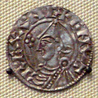 Coin of Cnut from the British Museum (in London) Cnut the Great Obverse.jpg