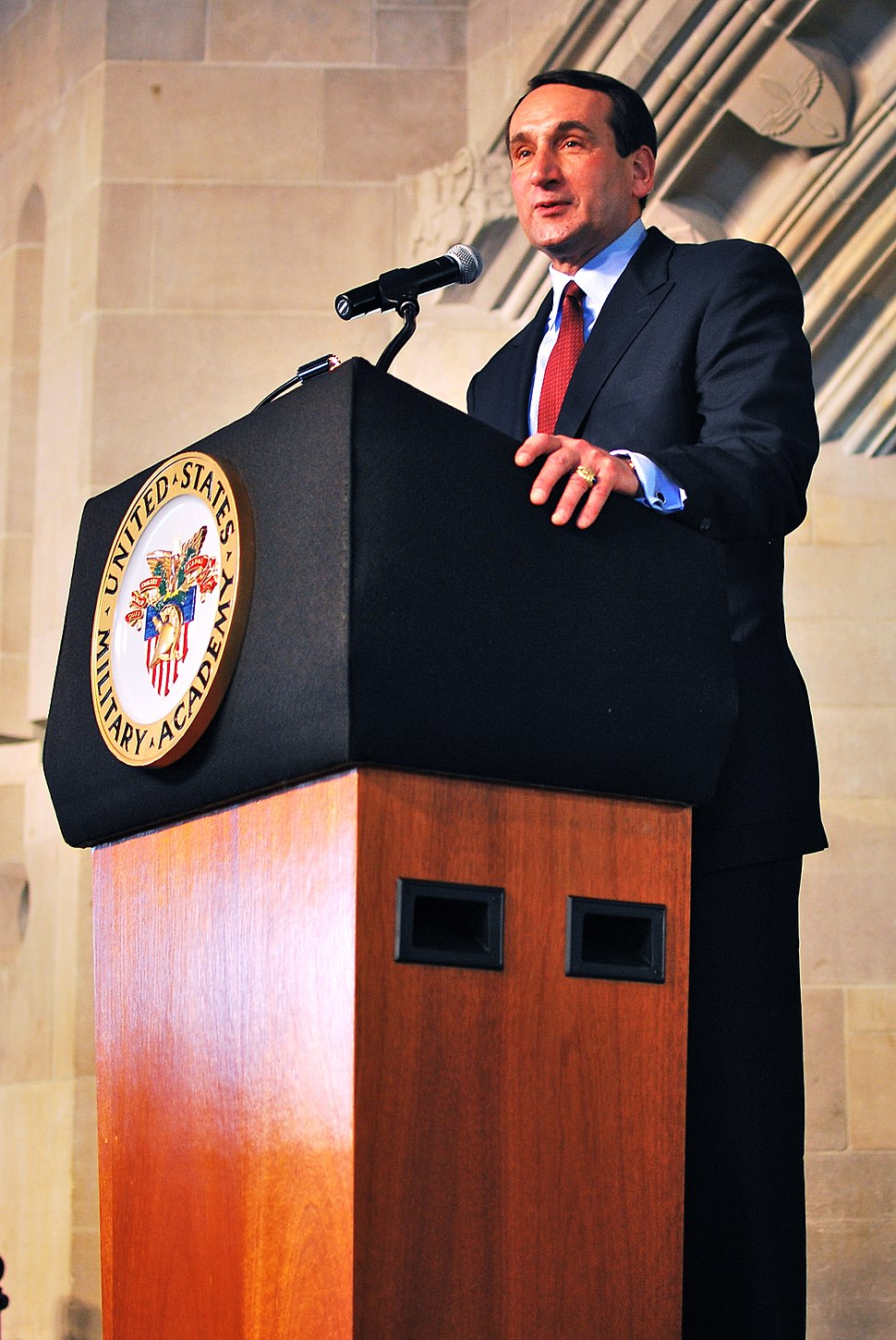 Coach K speaking at West Point, 27 Apr 2010