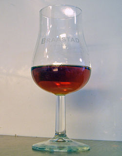 Cognac in a tulip glass.