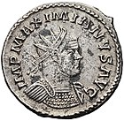 Coin issued during the reign of the Roman emperor Maximian
