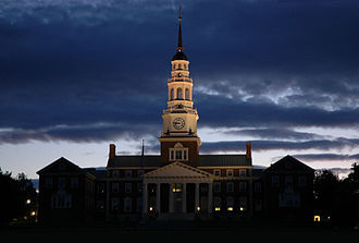 Colby College - The Miller Library at dusk