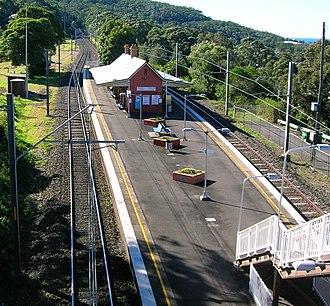 South Coast railway line, New South Wales - Coledale station