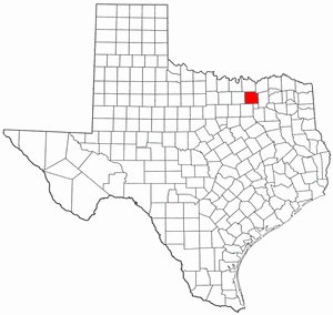 National Register of Historic Places listings in Collin County, Texas - Location of Collin County in Texas