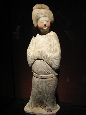 Colored pottery lady, Tang Dynasty