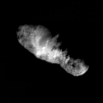 Deep Space 1 - Comet 19P/Borrelly imaged just 160 seconds before DS1's closest approach